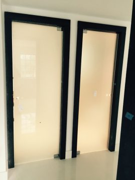 custom frosted glass doors
