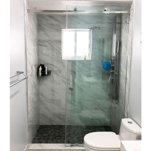 Serenity System 59 Quot W X 80 Quot H Frameless Sliding With