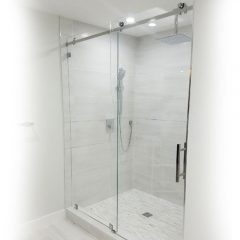 Serenity System – 59W x 84H Frameless Sliding Shower Door – Clear Glass