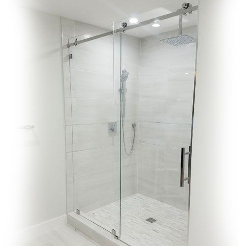 Frameless Rolling Glass Shower Doors.Serenity System 59w X 84h Frameless Sliding Shower Door Clear Glass