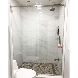 Serenity System – 59W x 72H Frameless Sliding Shower Door – Low iron Ultra-Clear Glass