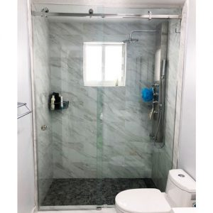 Serenity System – 59W x 80H Frameless Sliding Shower Door – Low iron Ultra-Clear Glass