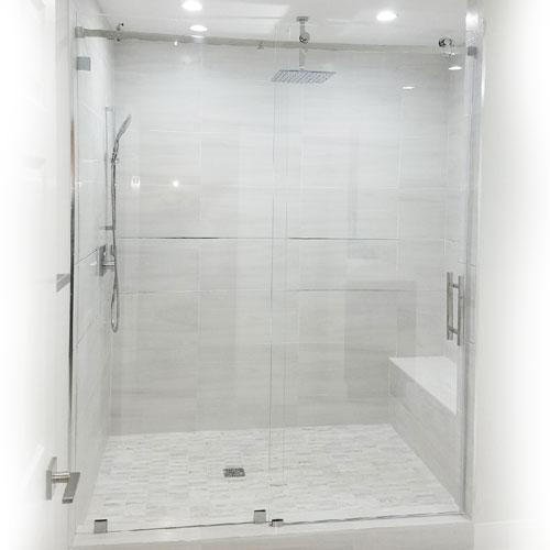 Serenity System 59 Quot W X 84 Quot H Frameless Sliding Shower Door