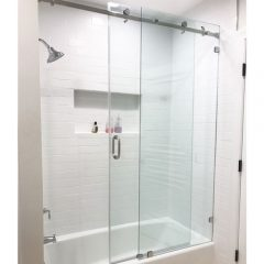 Serenity System – 59W x 60H Frameless Sliding Shower Door – Clear Glass